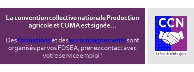La convention collective nationale Production agricole et CUMA est signée