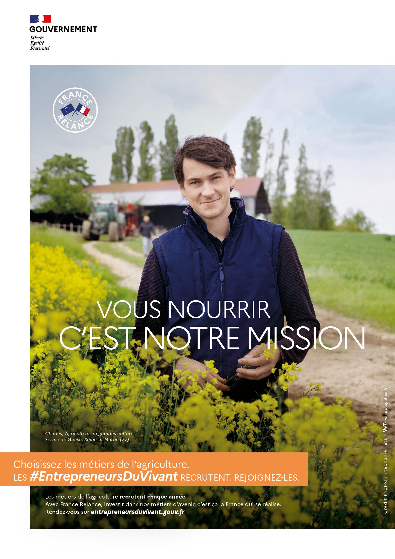 France Relance : la campagne « #LesEntrepreneursDuVivant recrutent »
